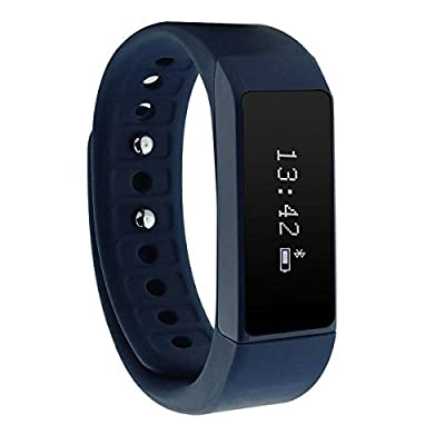 [CE ROHS approval] Wireless Fitness Pedometer Tracker Bluetooth Sports Bracelet Activity Tracker with Steps Counter Sleep Monitoring Calories Track