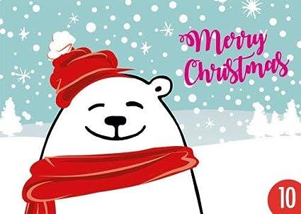 Pack de 10: Postal A6 + + + Navidad de Modern Times + + + Merry ...
