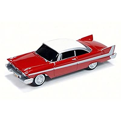 Auto World 1958 Christine Plymouth Fury, Red w/ White AWSS6401 - 1/64 Scale Diecast Model Toy Car: Toys & Games