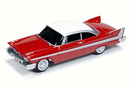 - Auto World 1958 Christine Plymouth Fury, Red w/ White AWSS6401 - 1/64 Scale Diecast Model Toy Car