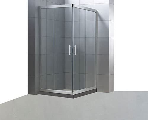 Mampara 2+2 rectangular. 80x70cm. Cristal de seguridad transparente. 6mm de grosor.: Amazon.es: Hogar