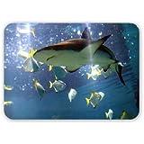 A black-tip reef shark - Mouse Mat Art247 Highest Quality Natural Rubber Mouse Mats - Mouse Mat