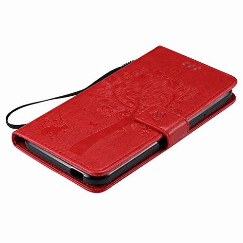 Árbol Para Billetera Yiizy Carcasa Diseño Estuches Desire Htc 830 Cover De Cuero Pu Dibujo Tarjetas Cáscara Funda Ranura rojo Estilo Protector Piel 8BS8w