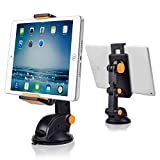 Car iPad Holder,CarBoss iPad Table Car Stand,GPS Windshield Holder,Excavator Style Dashboard Phone Cradle Car Mount Holder for iPhone 6/6Plus/6S/6S Plus/5S,Sumsung Galaxy Note/Tab,Nexus 7/5X/6P & More