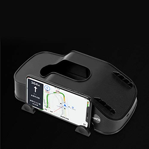 Idyandyans Universal Tissue Box Car Phone Holder Internal Storage Stowing Tidying Case Decoration Tools Auto Accessories Black