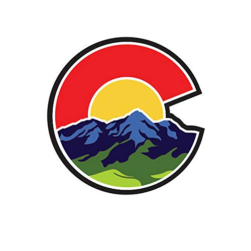 Morgan Graphics Colorado C Nature Logo Shaped Sticker Die Cut Decal CO Denver Boulder Native Vinyl Decal Sticker Car Waterproof Car Decal Bumper Sticker 5