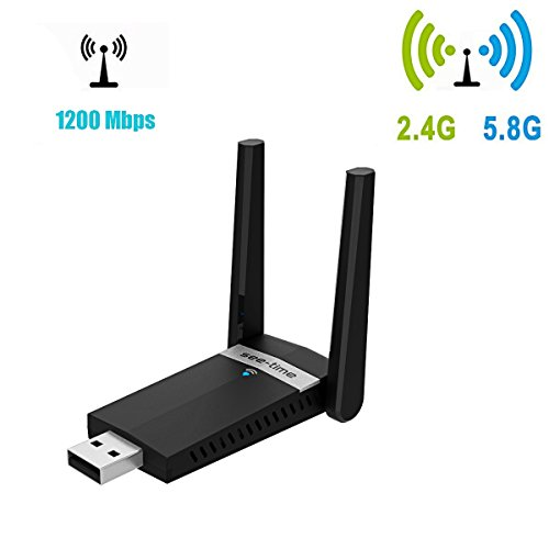 WifiHouse Wireless Wifi Dual Band USB 3.0 Adapter with Dual High Gain Antennas for Windows 7/8/10/XP/Vista,Linx2.6X and Mac OSX (5D11)