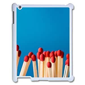 3D Bunch of Matches IPad 2,3,4 2D Cases Unique for Guys, Case for Ipad 3 [White]