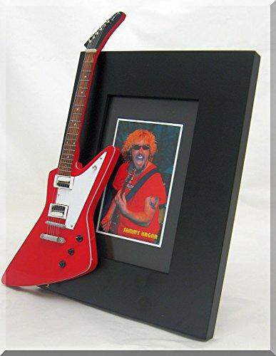 SAMMY HAGAR Miniature Guitar Photo Frame Explorer (Red Rocker Sammy Hagar)