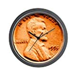 "CafePress - 1955 Double Die Lincoln Cent - Unique Decorative 10"" Wall Clock"
