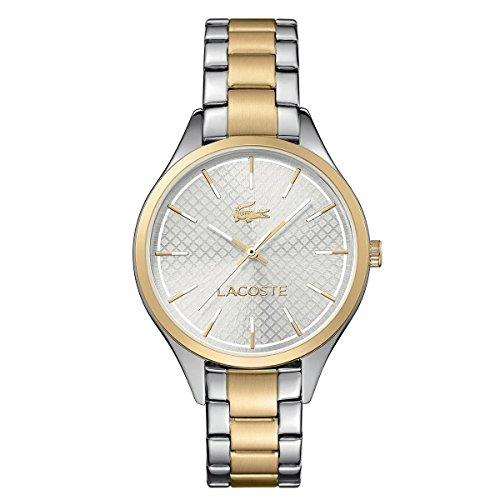 Lacoste Unisex 35mm Multicolor Two Tone Steel Bracelet Steel Case Quartz Silver-Tone Dial Watch 2000914