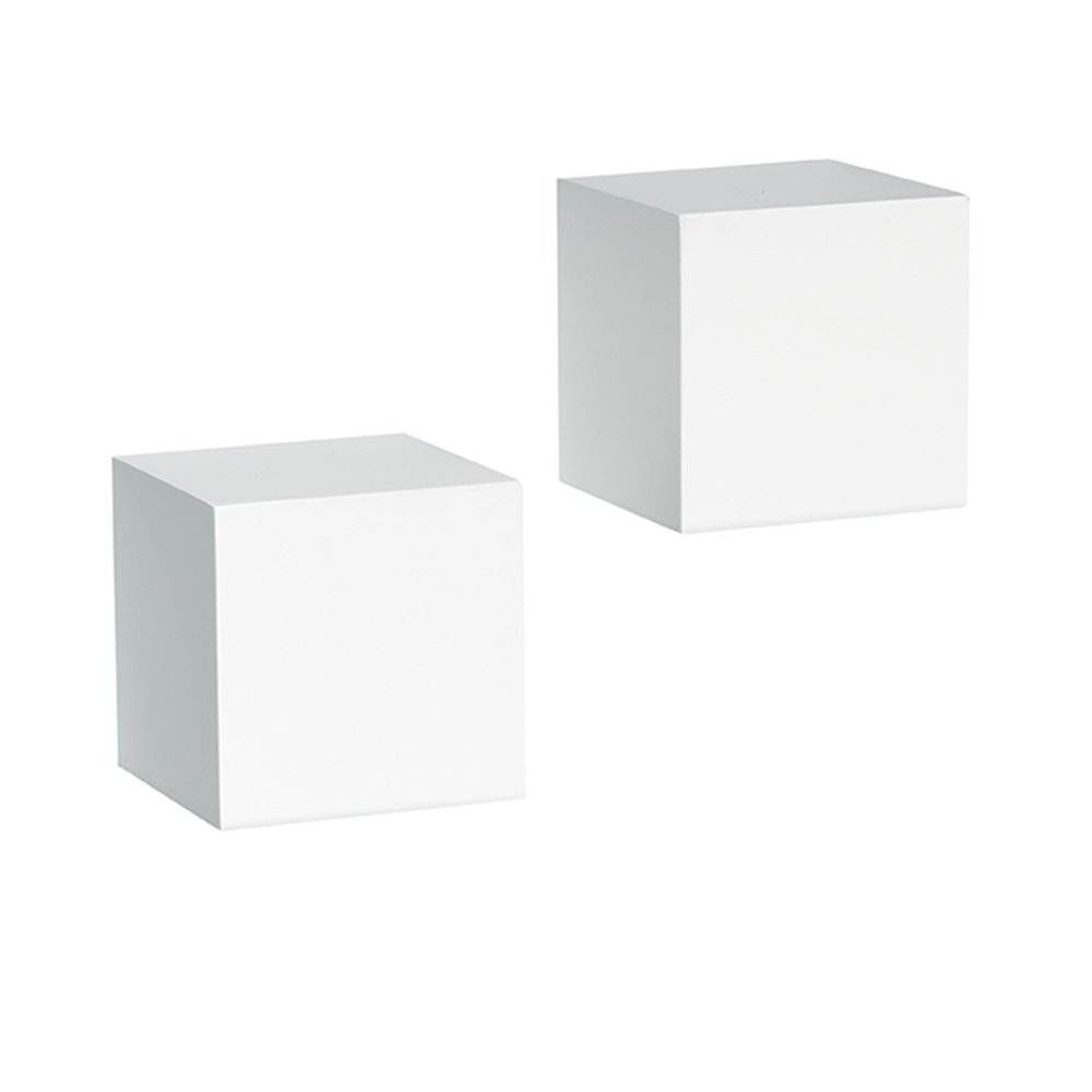 John Sterling Decorative Wall Cubes Pair, 5 by 5-Inch, White Knape & Vogt 0129-5WT2