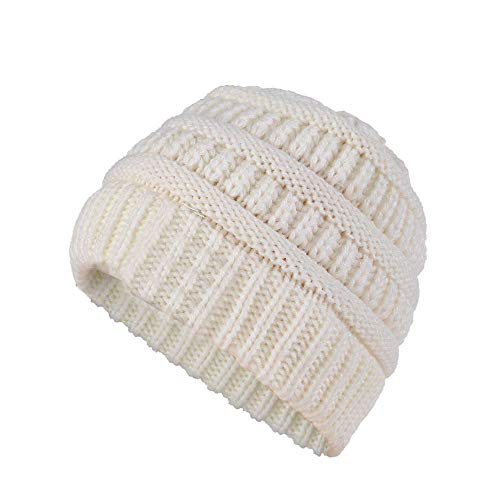 B.J Beanie Skull Slouchy Caps Boys Girls Colorful Winter Warm Crochet Wool Knit Beanie Ski Hat