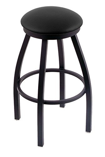 Holland Bar Stool Company 802 Misha 25-Inch Counter Stool with Black Wrinkle Finish, Black Vinyl Seat and 360 Swivel from Holland Bar Stool Company