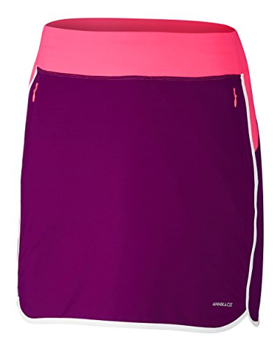 - ANNIKA by Cutter & Buck Women's Moisture Wicking UPF 50+ Drytec Pull on Skort with Pockets, Precision, X-Large