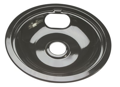 - NATIONAL BRAND ALTERNATIVE PORCELAIN-COATED DRIP PAN FOR WHIRLPOOL ELECTRIC RANGES, BLACK, 8'', 6 PER PACK (1/PK)
