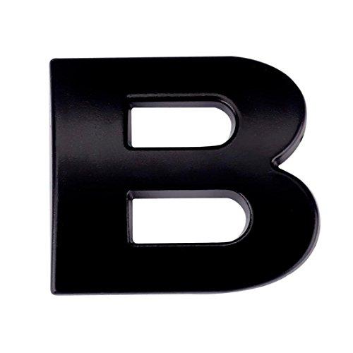 Boddenly A-Z Car Sticker 1PC 3D DIY Metallic Alphabet Bumper Motorcycle Sticker Wall Window Sticker Laptop Emblem Letter Badge Decal Black 0.98x0.87x0.12'' (B)