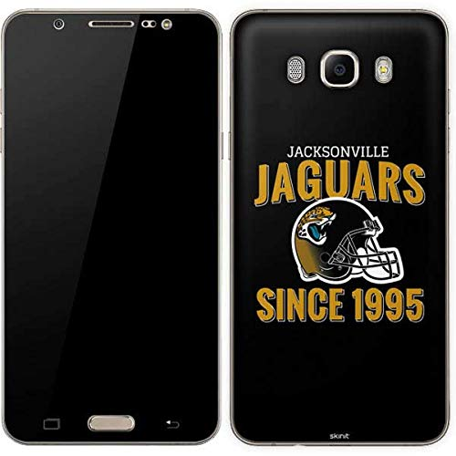 (Skinit Jacksonville Jaguars Helmet Galaxy J7 Skin - Officially Licensed NFL Phone Decal - Ultra Thin, Lightweight Vinyl Decal Protection)