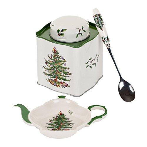 Christmas Tree Tea Set - Spode Christmas Tree 3-Piece Tea Set