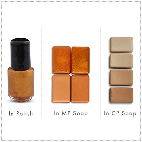 Aztec Gold/Yellow/Orange Luxury Mica Colorant Pigment Powder Cosmetic Grade Glitter Eyeshadow Effects for Soap Candle Nail Polish 4 oz