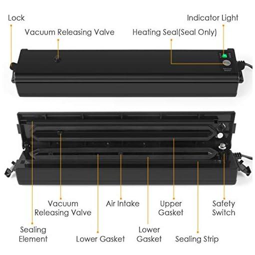 Vacuum Sealer Machine, ROSKY Automatic Food Sealers Vacuum
