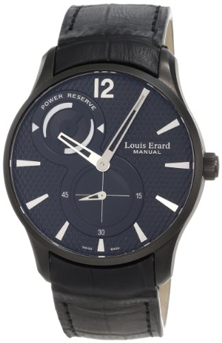 Louis Erard Men's 53209AN02.BDC26 1931 Automatic Black PVD Power Reserve Leather Watch