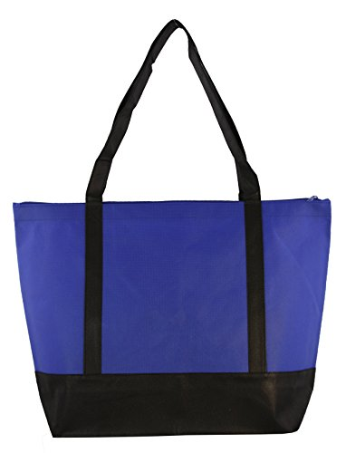 Lightweight Woven Tote (ECO Non-Woven Light Weight Two-Tone Tote W/ Zipper)