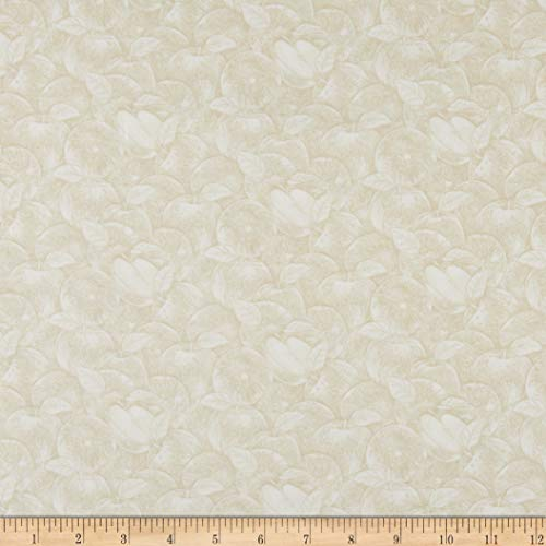 Henry Glass & Co. Apple Festival Apples Outlined Cream Fabric Fabric by the - Apples Fabric With