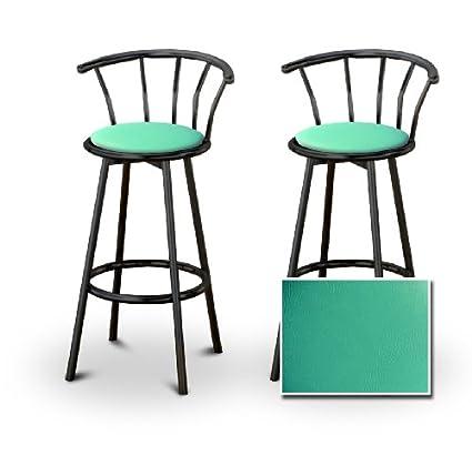 Groovy Amazon Com Set Of 2 Metal Swivel Barstools 29 Black Metal Creativecarmelina Interior Chair Design Creativecarmelinacom