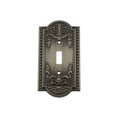 Antique Pewter 1 Toggle - Nostalgic Warehouse 719782 Meadows Switch Plate with Single Toggle, Antique Pewter