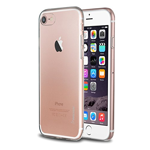 Insten Clear Case Compatible with iPhone 8/7, Premium [Ultra Slim] Lightweight Soft TPU Rubber Candy Skin Anti Slip Case Cover Compatible with Apple iPhone 8/7 (4.7