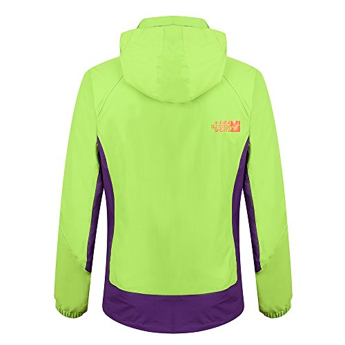 Heated Jacket Women,Waterproof Jacket with New Heating System,Auto-heated Winter Coat For Girls Woman Hooded Windbreaker (XL, Green) by redder (Image #2)
