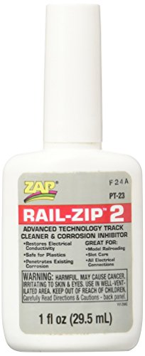 Pacer Technology (Zap) Rail-Zip 2 Track Cleaner and Corrosion Inhibitors, 1 oz from Pacer Technology (Zap)