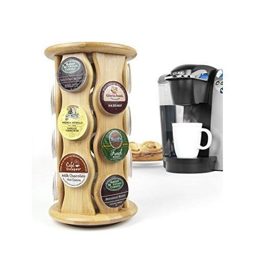 Keurig by Capital Products Bamboo Carousel K-Cup Holder New -supplier-home-gallery