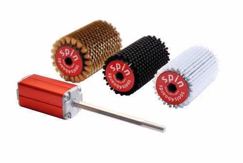 Tools4Boards Spin 5-Piece Roto Brush Kit, Candy Apple Red/Silver/Black by Tools4Boards