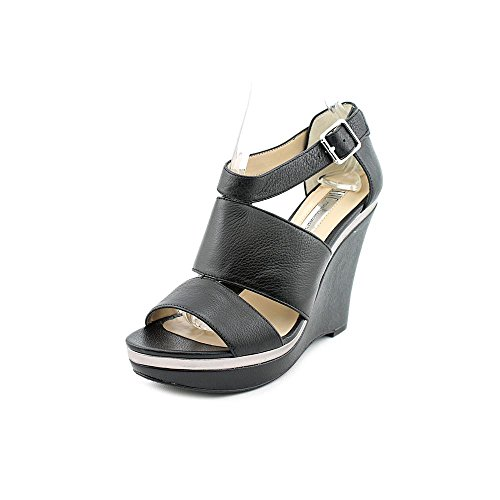 Inc International Concepts Women's Camie Wedge Sandals Shoes Leather 1769853031 Black 8MW6gbo