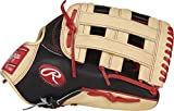 Rawlings PROBH34 Heart of The Hide Outfield Gameday Baseball Glove, Black/Camel, 12.75'