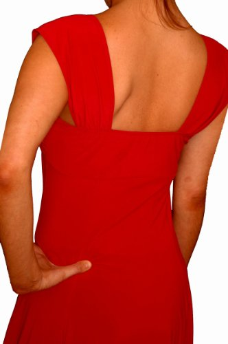 Slimming Plus Line A Women Made Funfash Cocktail Empire USA Rhinestone Dress Red Size in Accent Waist With B4pwf