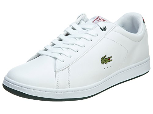Lacoste Men's Carnaby EVO CTS White/Red 11.5 M US