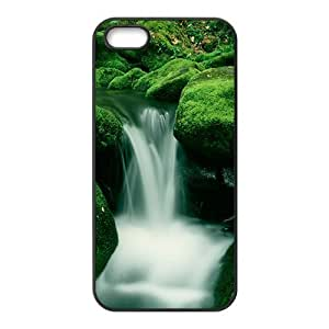 Personalized Creative Cell Phone Case For iPhone ipod touch4,charming silk stream and green rocks