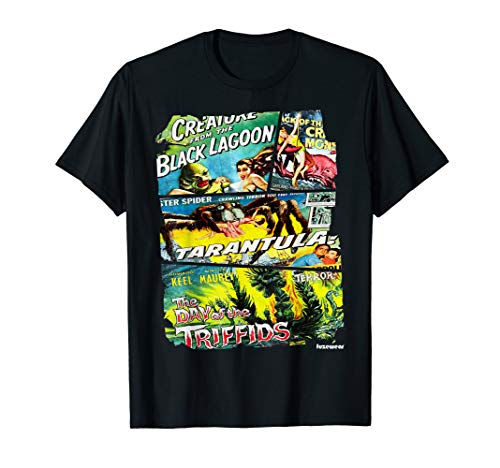 (Vintage Style Sci Fi Movie Poster Collage T-Shirt)