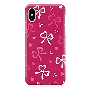 Loud Universe Wrap Around Edges Case For iPhone XS Max Lovely Pink And White Ribbon Pattern Valentine Heavy Duty Light Weight Modern iPhone Cover