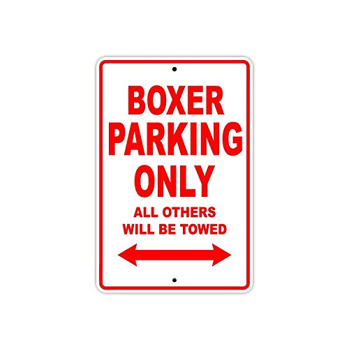 - A Homim Big Dog Boxer Parking Only Towed Motorcycle Bike Chopper Aluminum Sign
