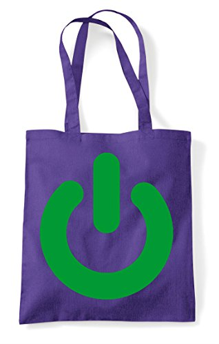 Shopper Button Tote Gaming Power Bag Purple Statement On n8OvY