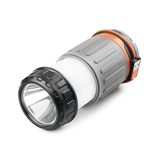 WAGAN 4304 #Camplites Rechargeable USB LED Camping Lantern Light Flashlight Collapsible 3 Lighting Options High/Low/SOS for Camping, Hiking, Emergencies, Power Outage - Jeep Led Lantern