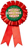 Forum Novelties Women's Award Ribbon For Ugliest Christmas Sweater, Multi, One Size