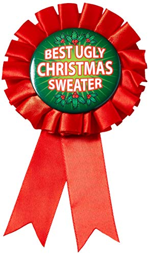 Forum Novelties Women#039s Award Ribbon For Ugliest Christmas Sweater Multi One Size