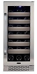 Whynter Bwr-331sl Elite 33 Bottle Seamless Door Single Zone Built-in Wine Refrigerator, Stainless Steelblack