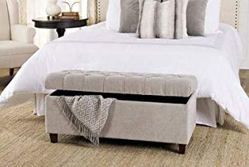 Amazon.com: HomeK- End of Bed Storage Bench-Bedroom Benches ...
