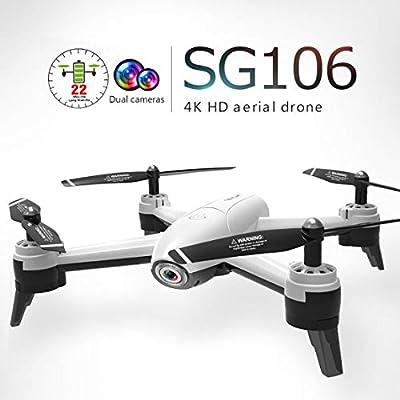 73JohnPol SG106 Drone RC con 4K HD Doble cámara FPV WiFi en Tiempo ...